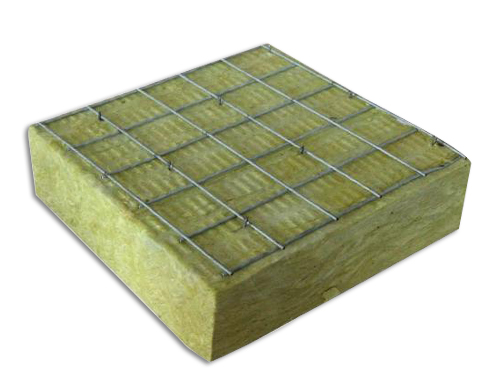 Steel mesh rock wool board